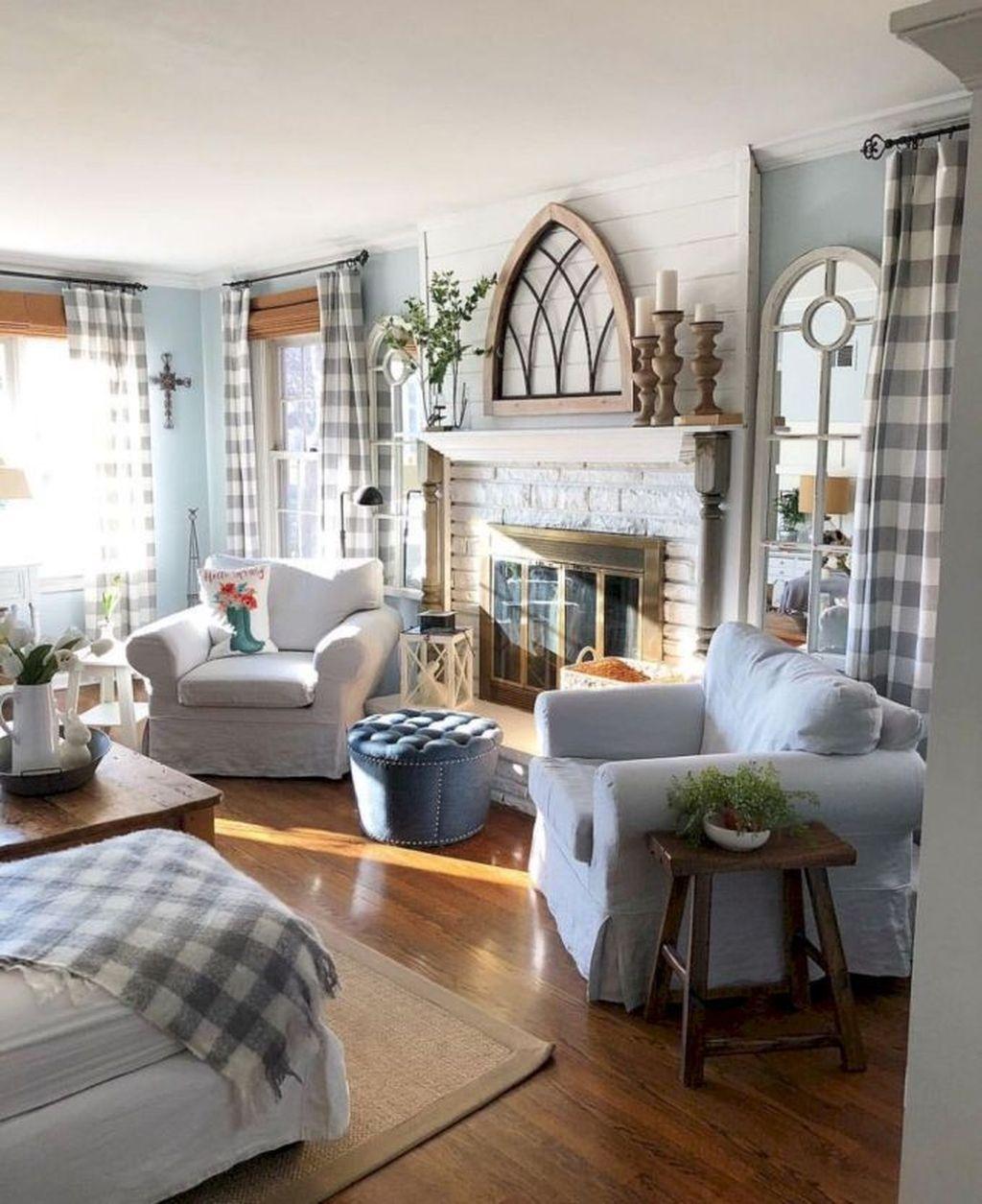 Incredible Rustic Farmhouse Living Room Design Ideas 01