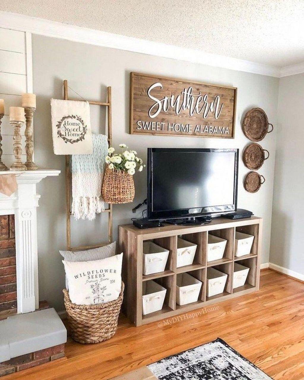 Incredible Rustic Farmhouse Living Room Design Ideas 03