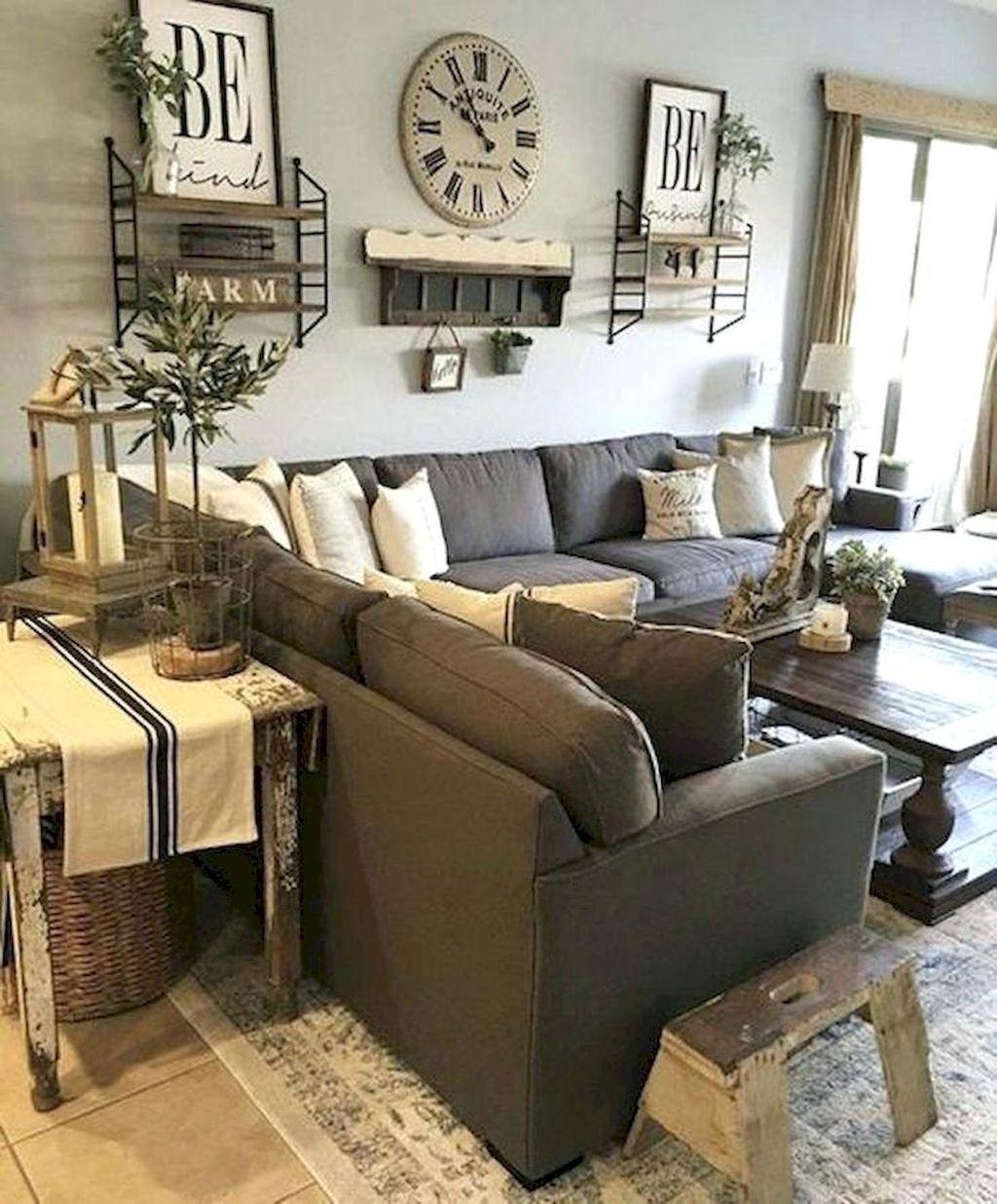 Incredible Rustic Farmhouse Living Room Design Ideas 06