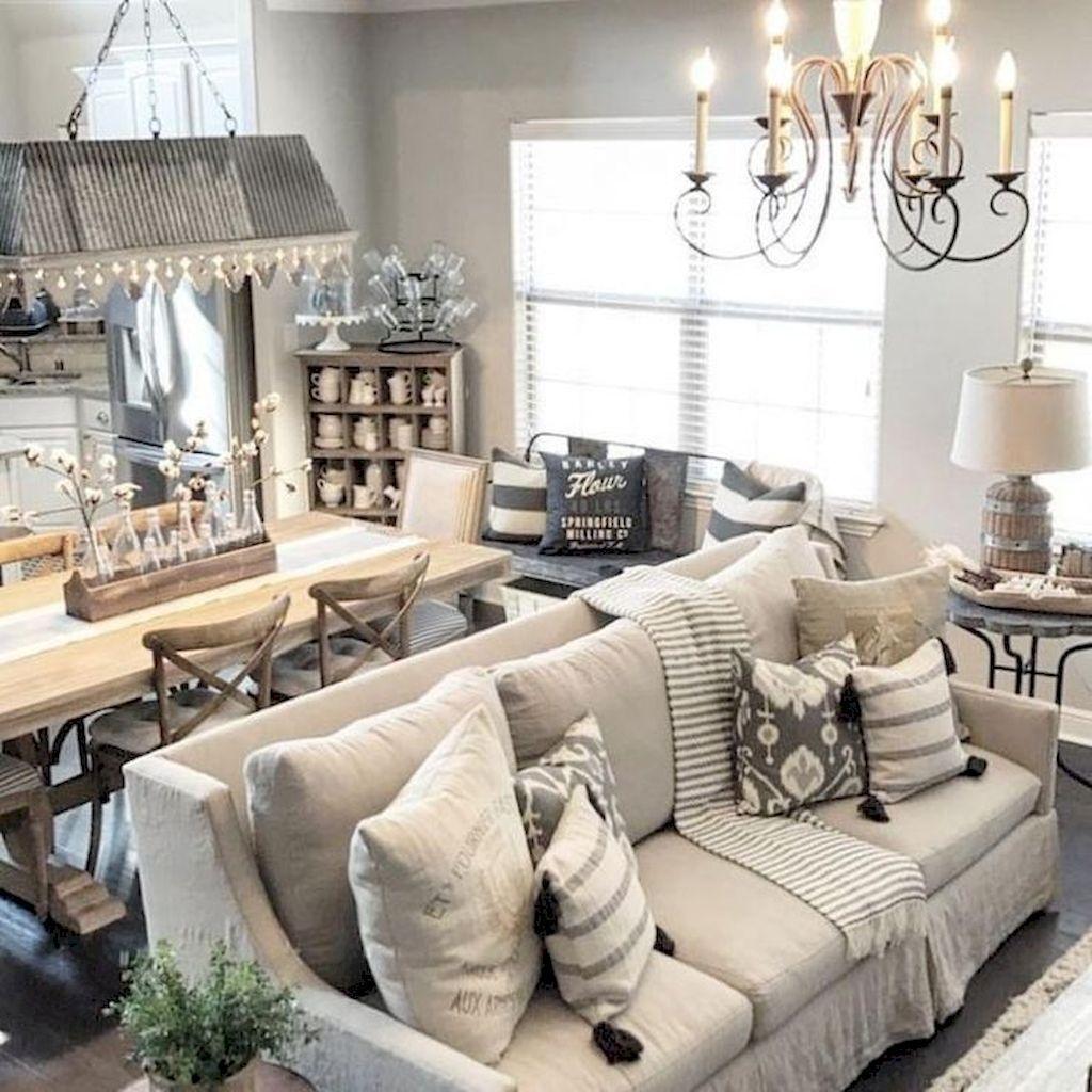 Incredible Rustic Farmhouse Living Room Design Ideas 20