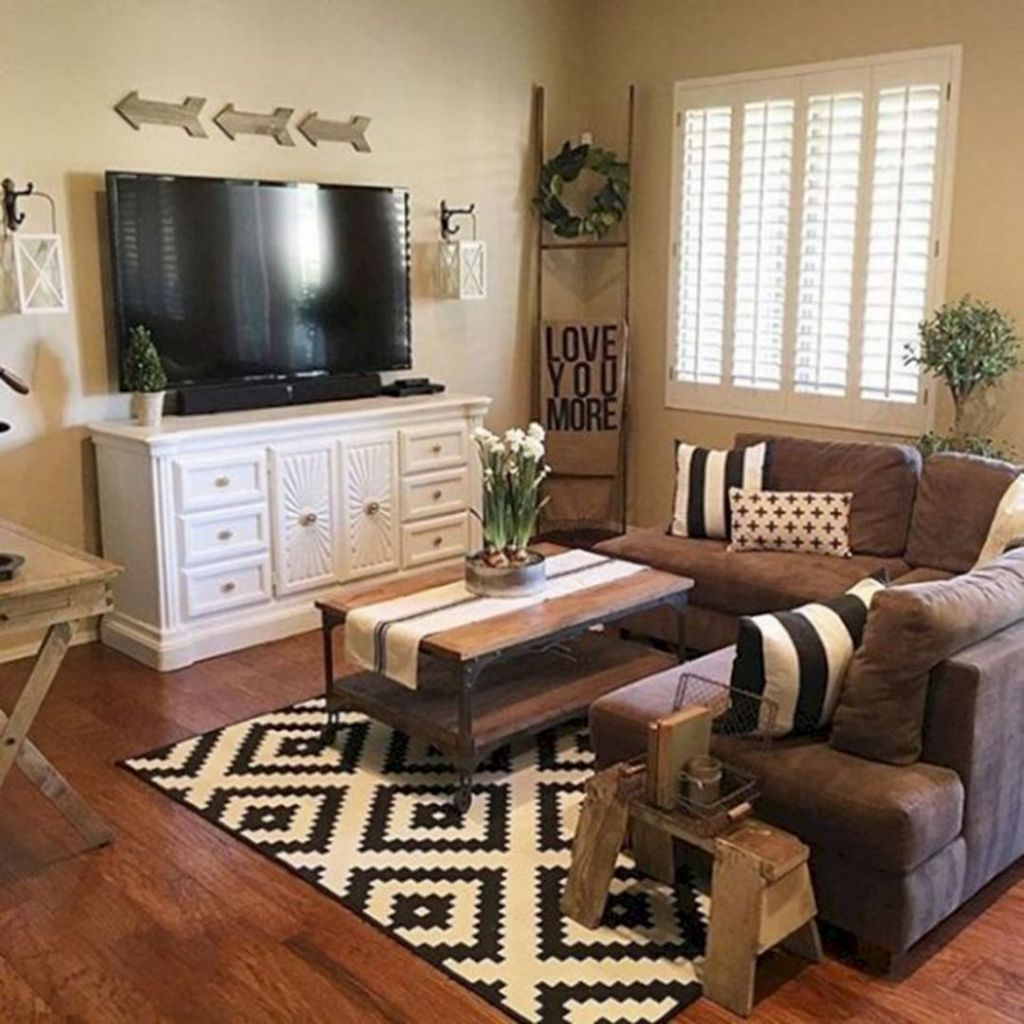 Incredible Rustic Farmhouse Living Room Design Ideas 23