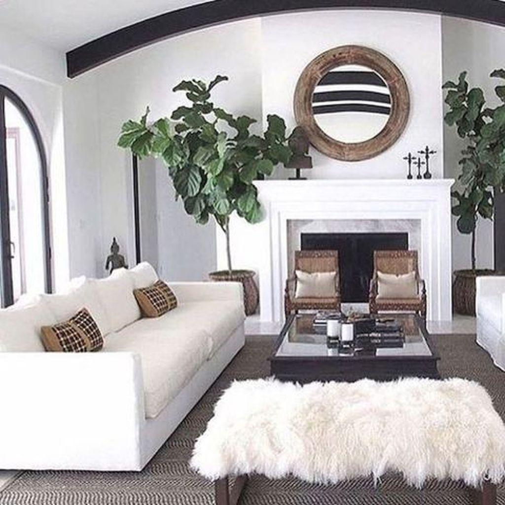 Incredible Rustic Farmhouse Living Room Design Ideas 33