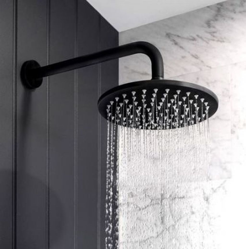 Inspiring Black Powder Room Design Ideas With Modern Style 15