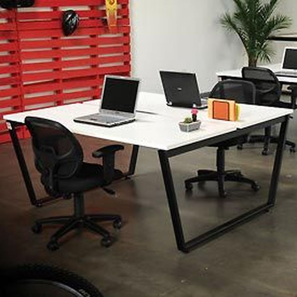 Inspiring Double Desk Home Office Design Ideas 01