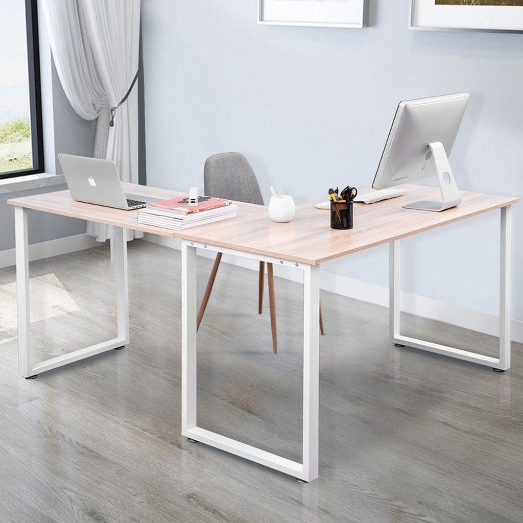 Inspiring Double Desk Home Office Design Ideas 07