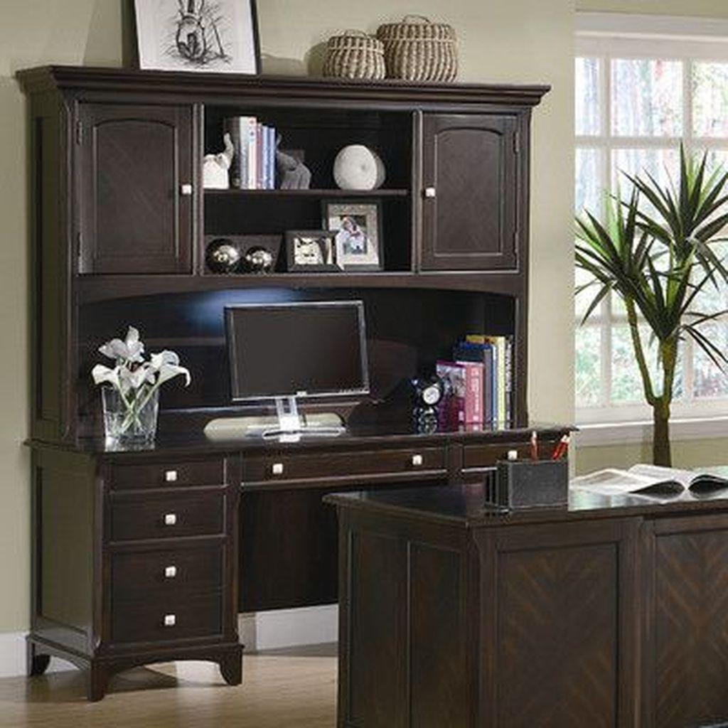 Inspiring Double Desk Home Office Design Ideas 10