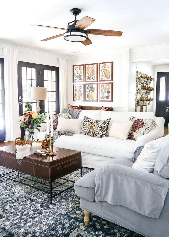 Inspiring Fall Living Room Decor Ideas On A Budget 29