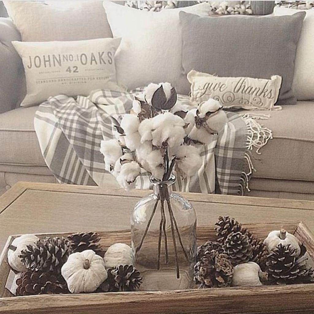 Inspiring Fall Living Room Decor Ideas On A Budget 34