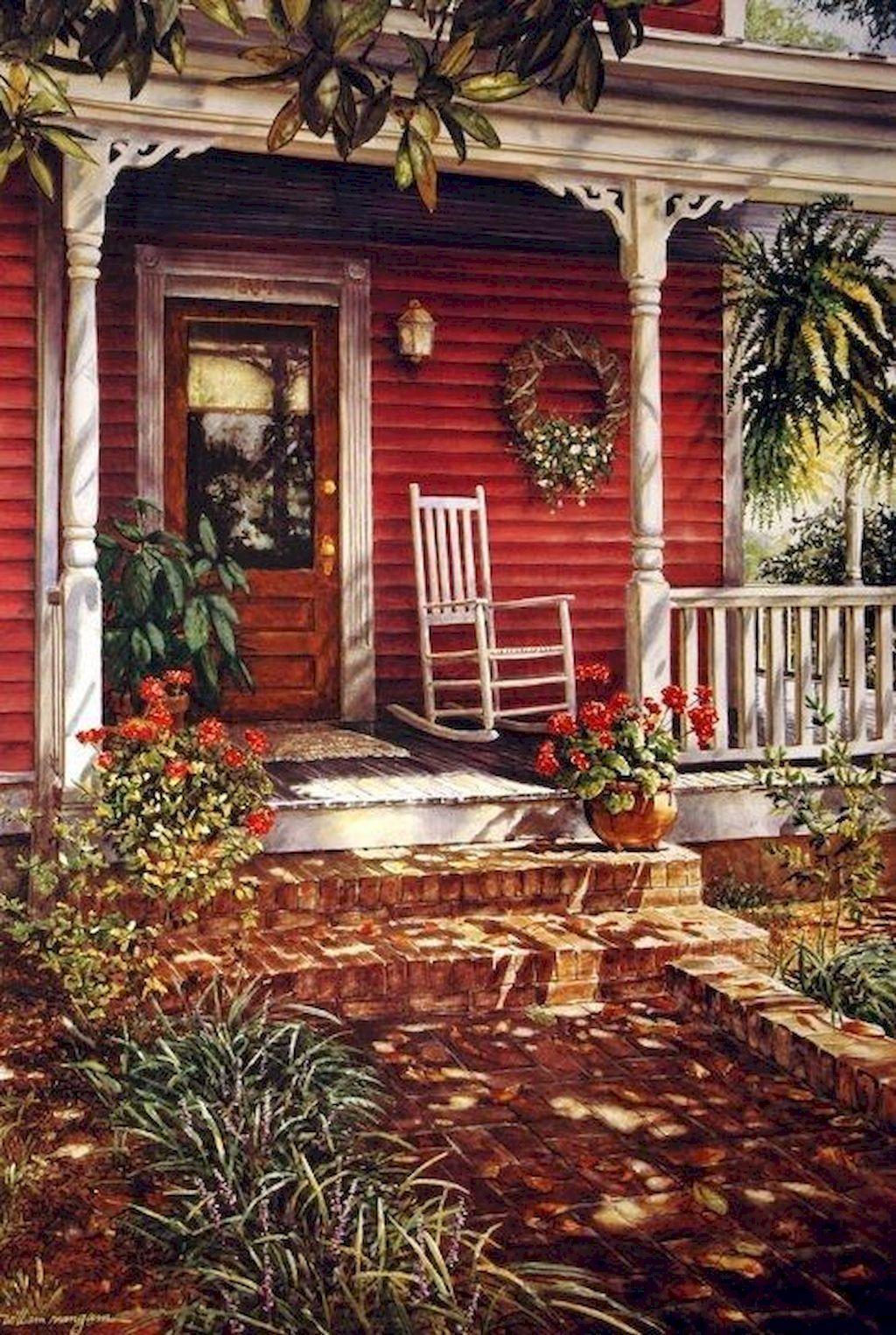 Inspiring Farmhouse Front Porch Decor Ideas 20