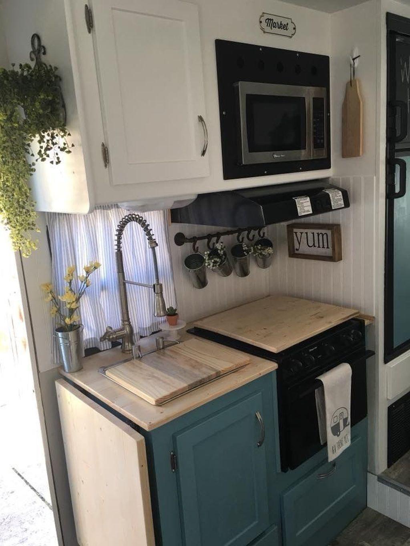 Inspiring RV Kitchen Design And Decor Ideas 02