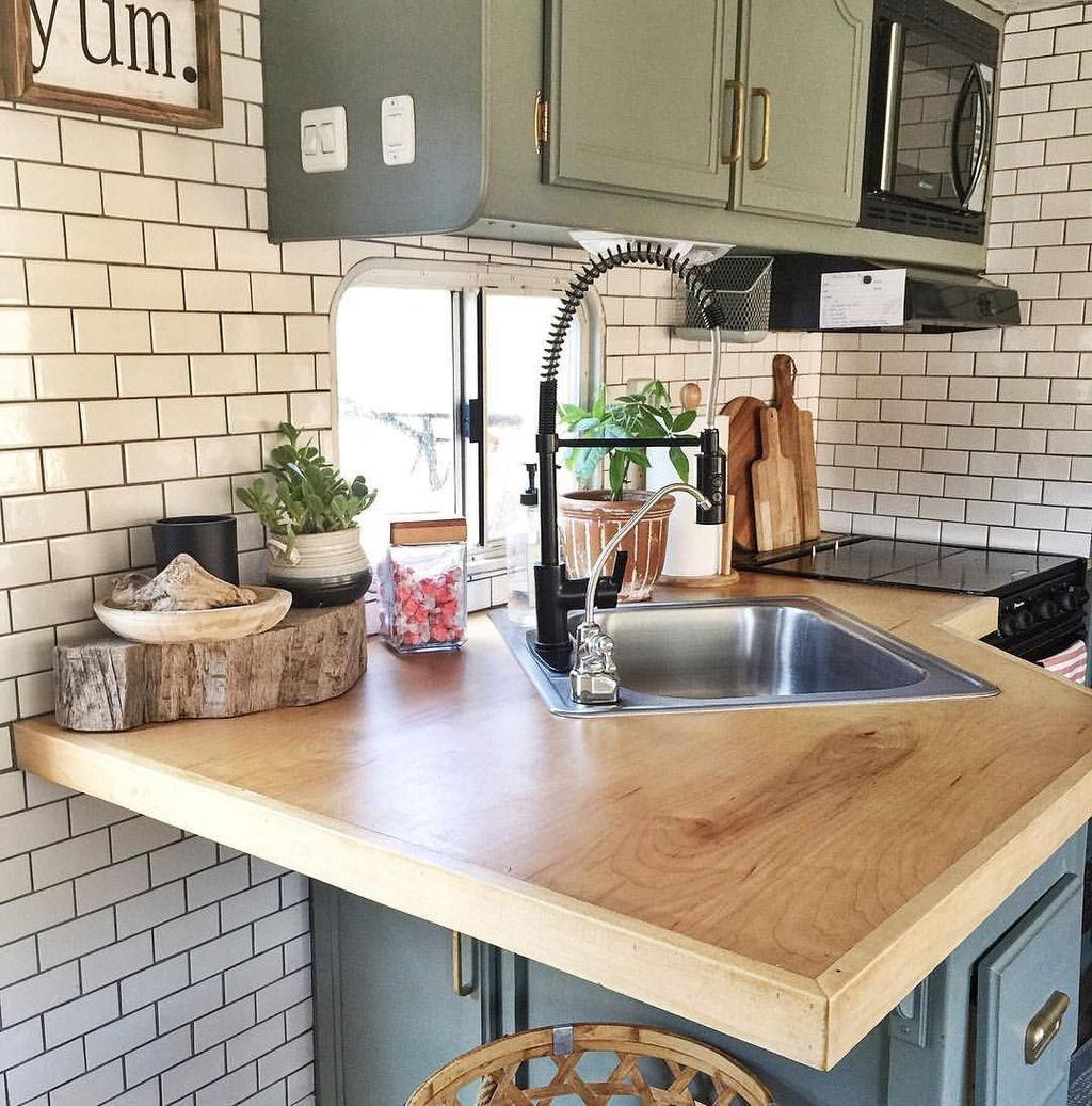 Inspiring RV Kitchen Design And Decor Ideas 03