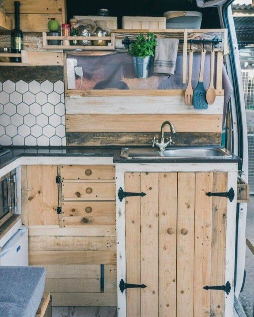Inspiring RV Kitchen Design And Decor Ideas 20
