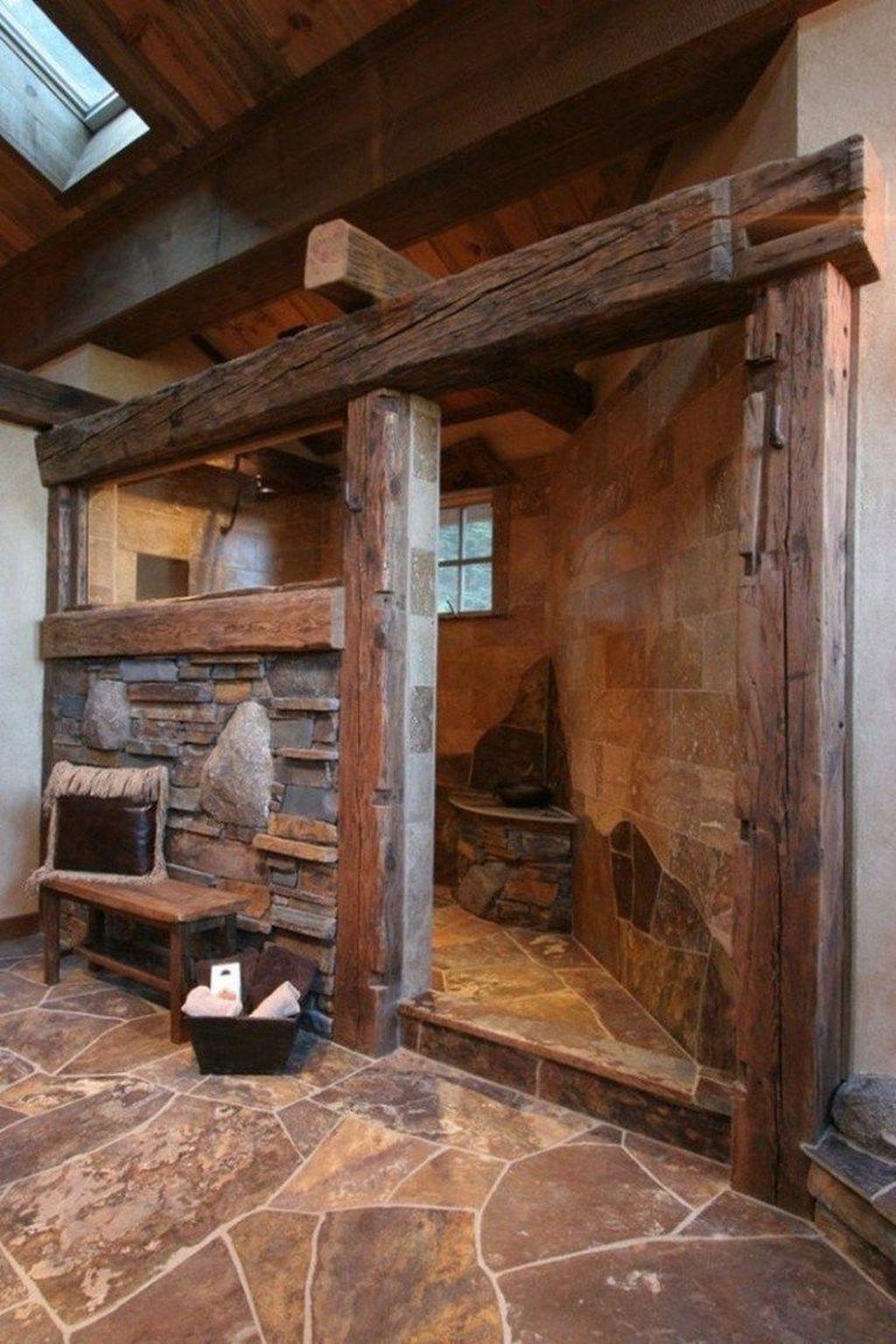 Lovely Farmhouse Bathroom Design Ideas 34