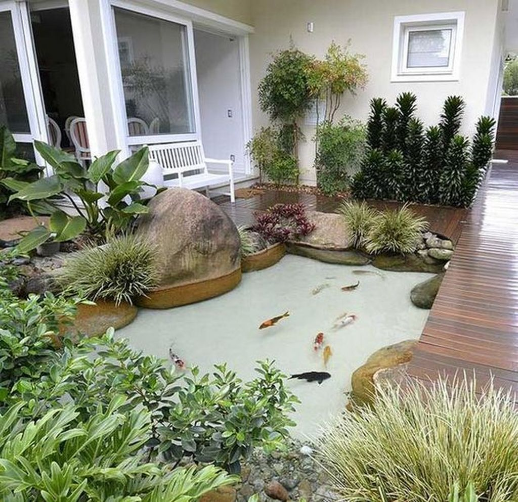Nice Fish Ponds Backyard Decoration Ideas 11