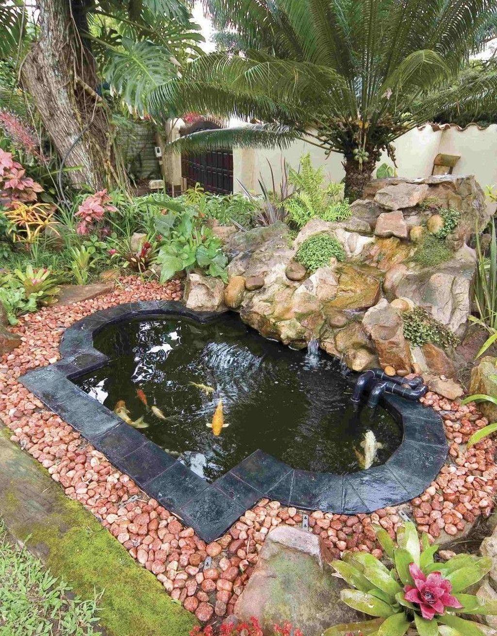 Nice Fish Ponds Backyard Decoration Ideas 16