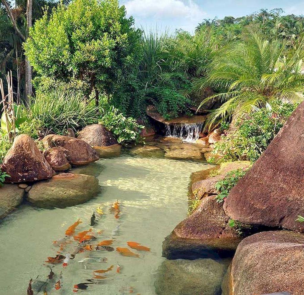 33 Nice Fish Ponds Backyard Decoration Ideas - MAGZHOUSE