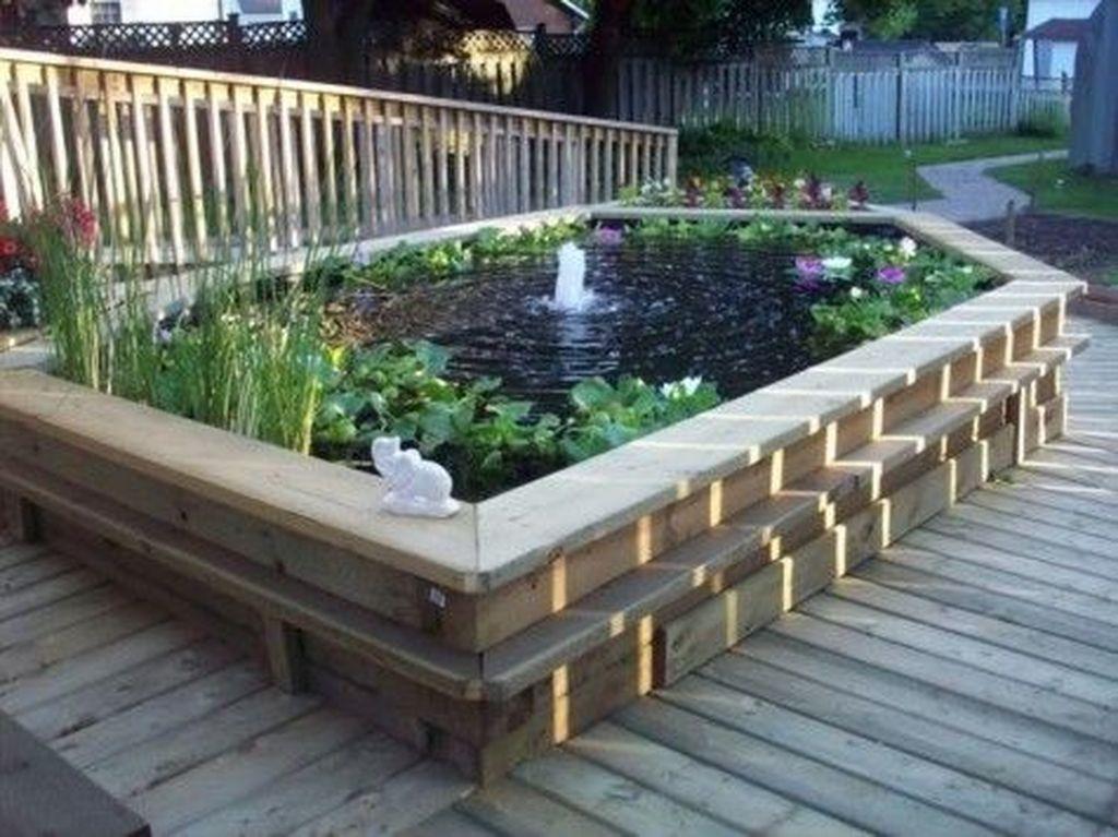 Nice Fish Ponds Backyard Decoration Ideas 26