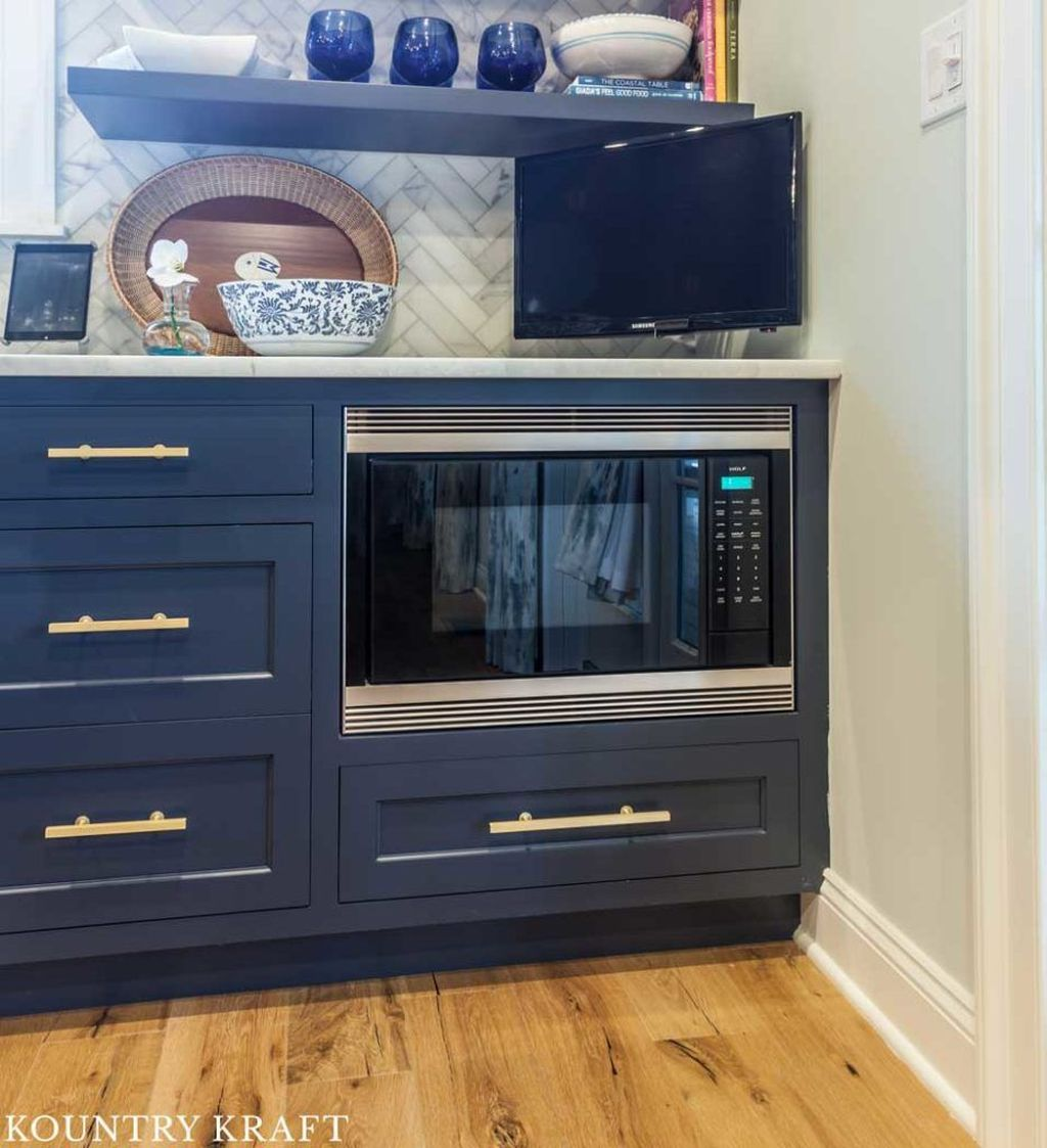 Stunning Navy Kitchen Cabinets Ideas You Have Must See 04