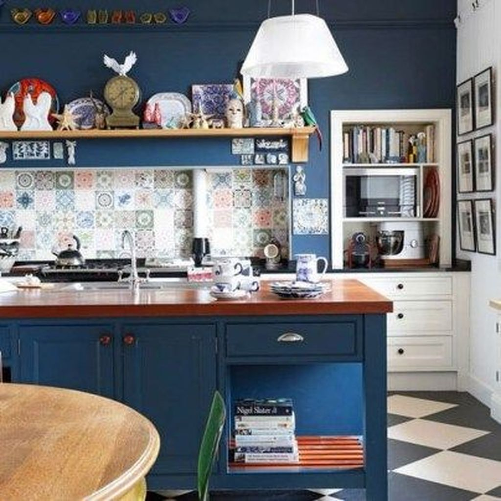 Stunning Navy Kitchen Cabinets Ideas You Have Must See 05