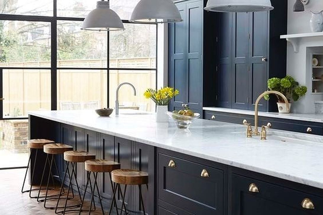 Stunning Navy Kitchen Cabinets Ideas You Have Must See 07