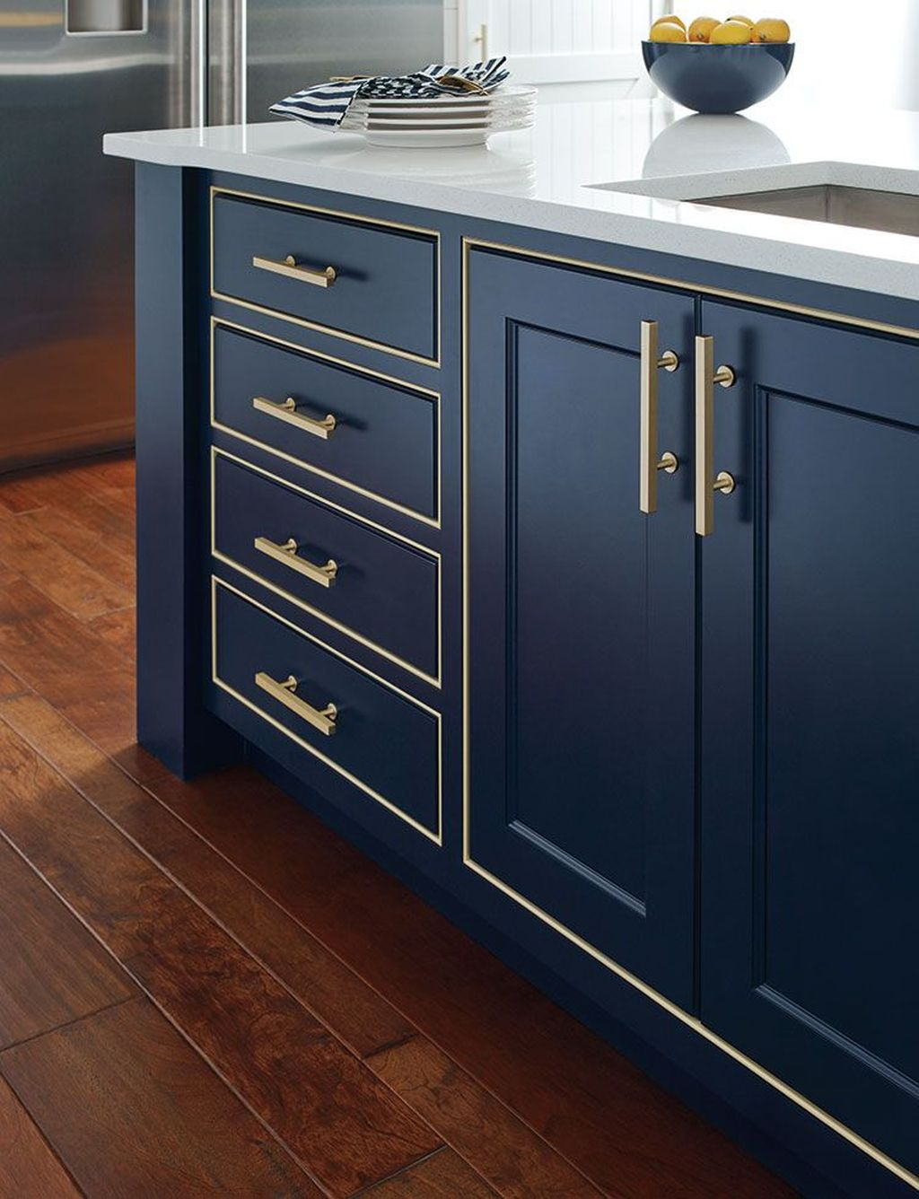 Stunning Navy Kitchen Cabinets Ideas You Have Must See 09