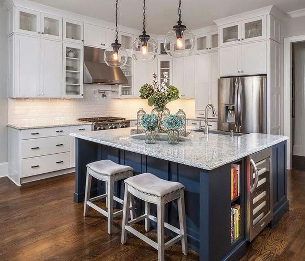 Stunning Navy Kitchen Cabinets Ideas You Have Must See 11