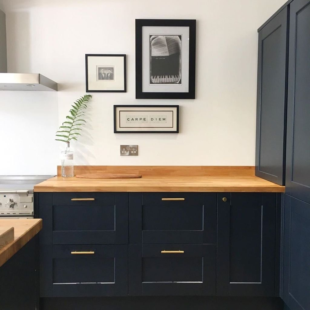 Stunning Navy Kitchen Cabinets Ideas You Have Must See 13