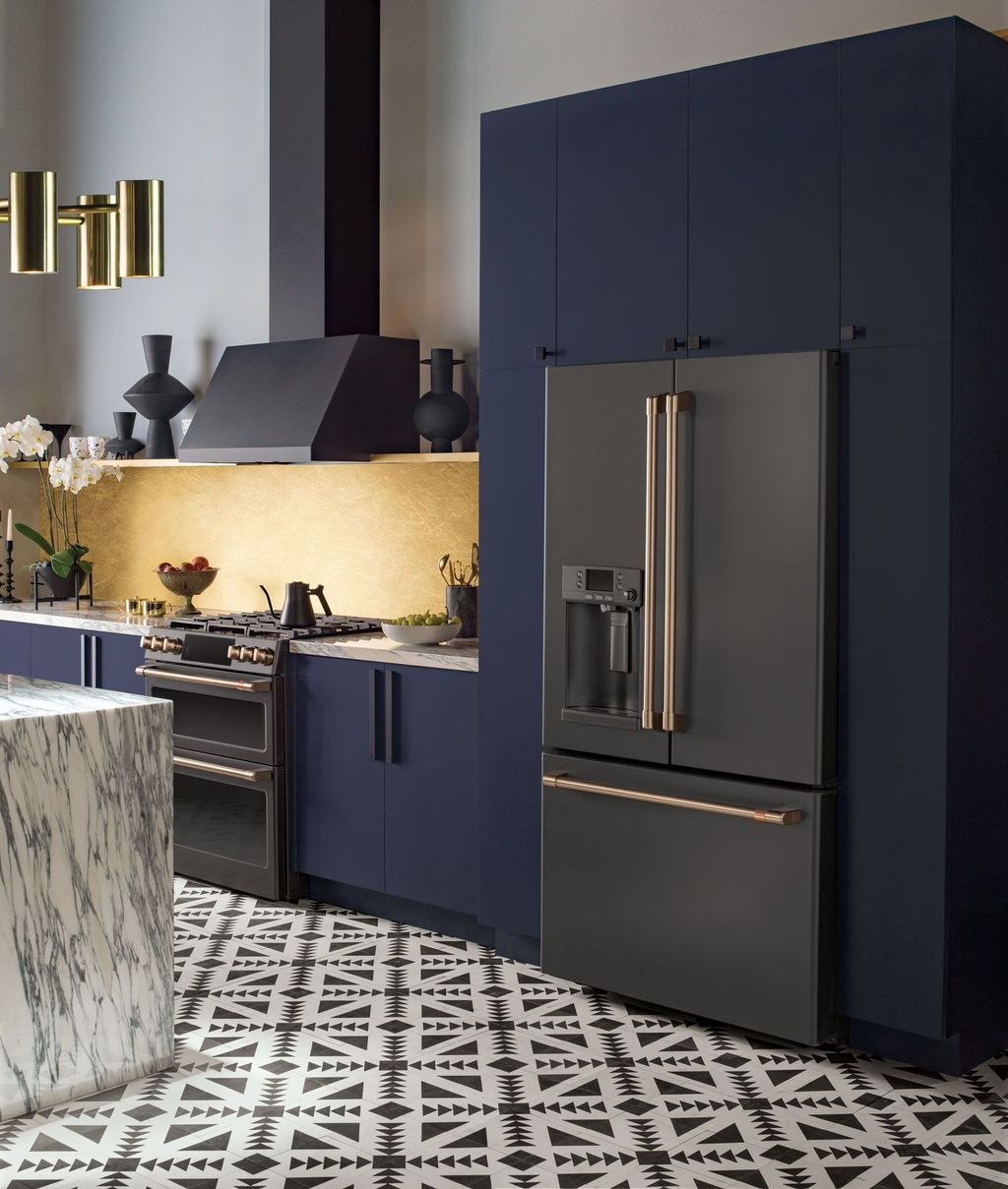 Stunning Navy Kitchen Cabinets Ideas You Have Must See 15