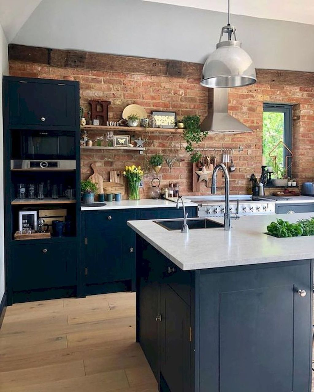Stunning Navy Kitchen Cabinets Ideas You Have Must See 17