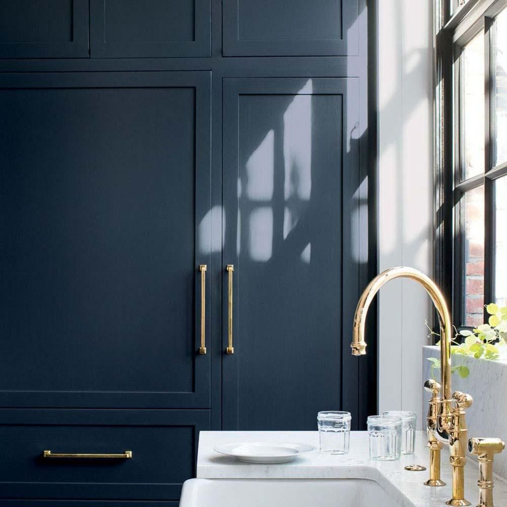 Stunning Navy Kitchen Cabinets Ideas You Have Must See 27