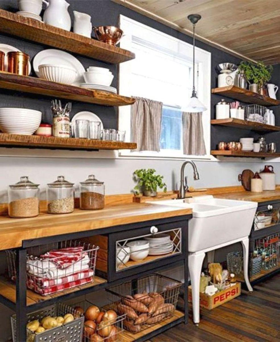 Stunning Rustic Kitchen Design And Decor Ideas 22