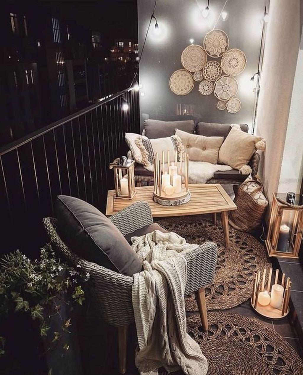 The Best Apartment Balcony Decor Ideas For Fall Season 09
