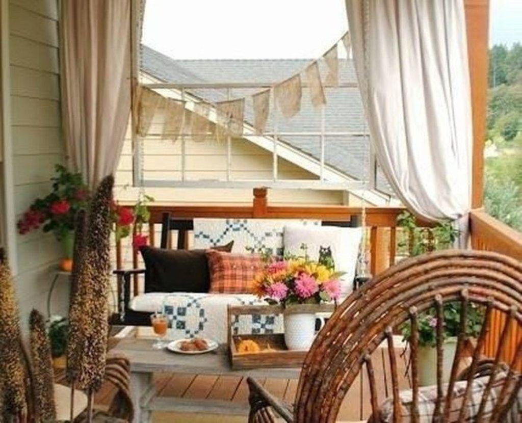 The Best Apartment Balcony Decor Ideas For Fall Season 24