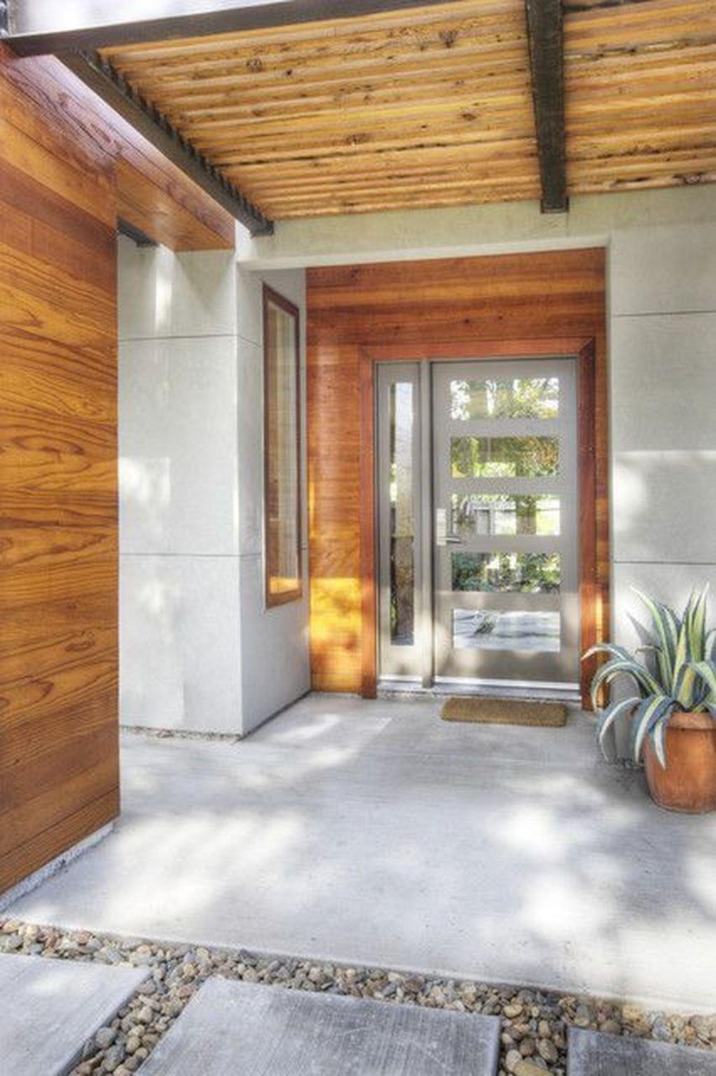 The Best Modern Front Entrance Exterior Design Ideas 03