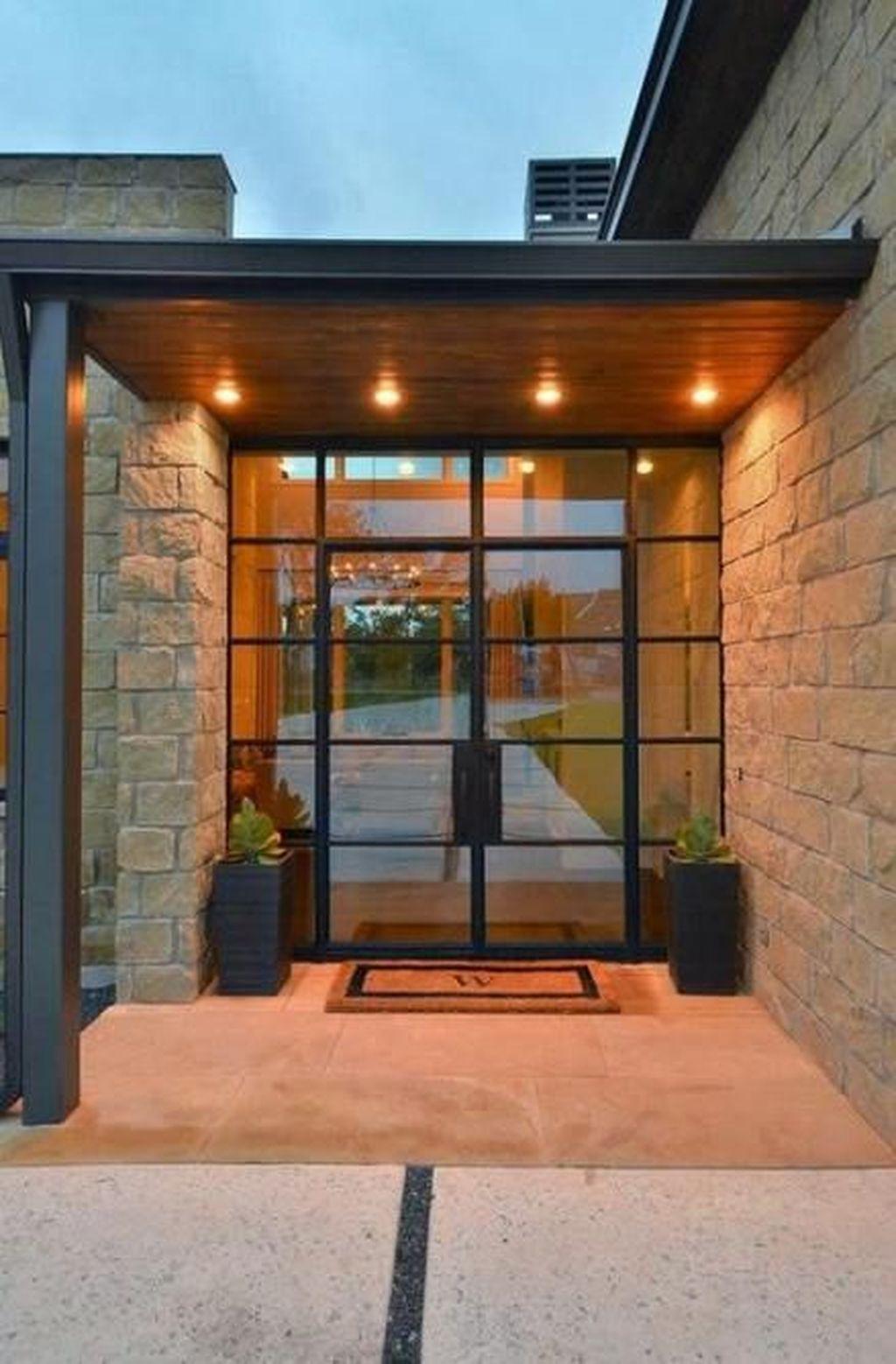 The Best Modern Front Entrance Exterior Design Ideas 05