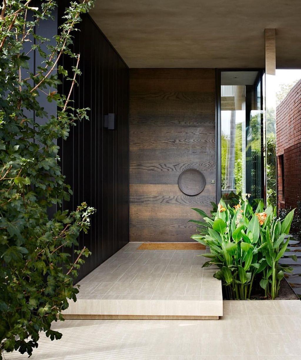The Best Modern Front Entrance Exterior Design Ideas 10