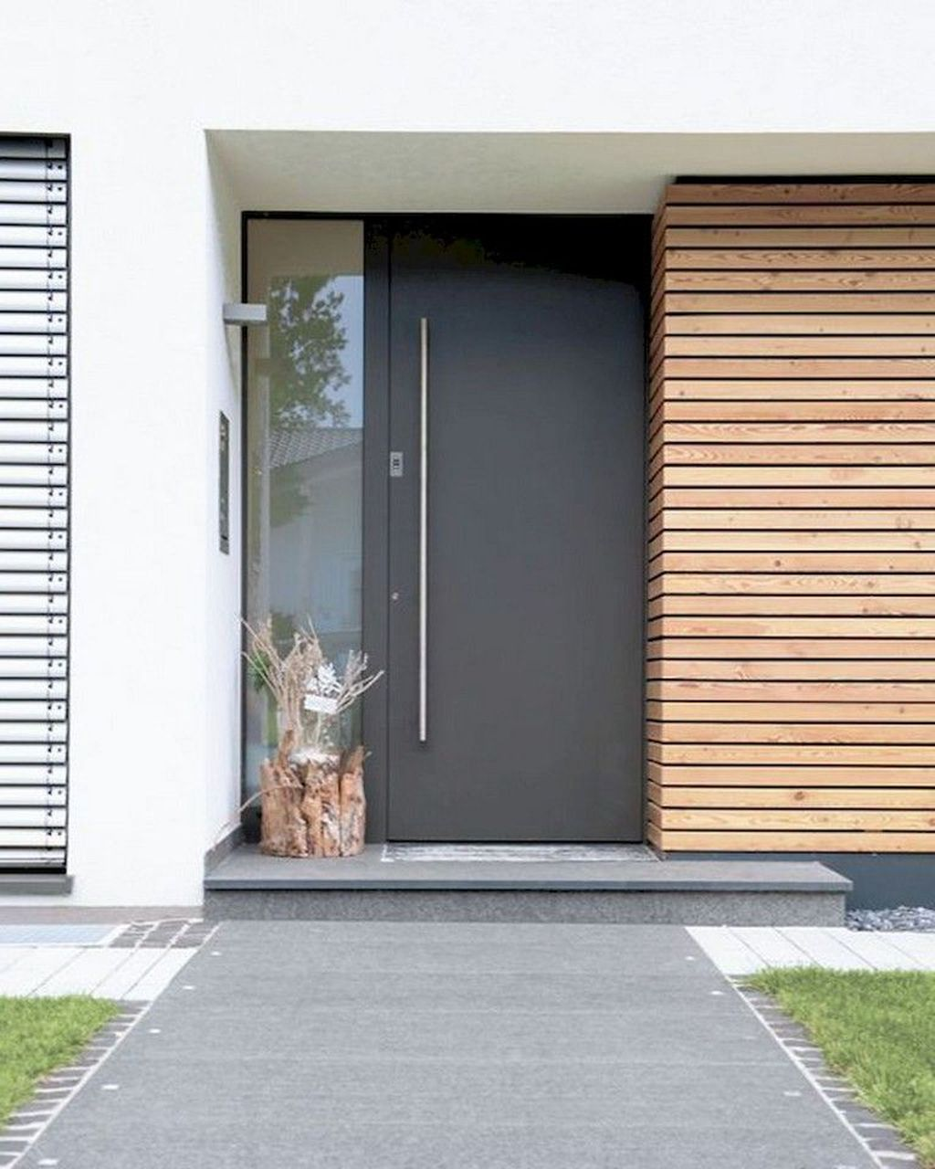 The Best Modern Front Entrance Exterior Design Ideas 24