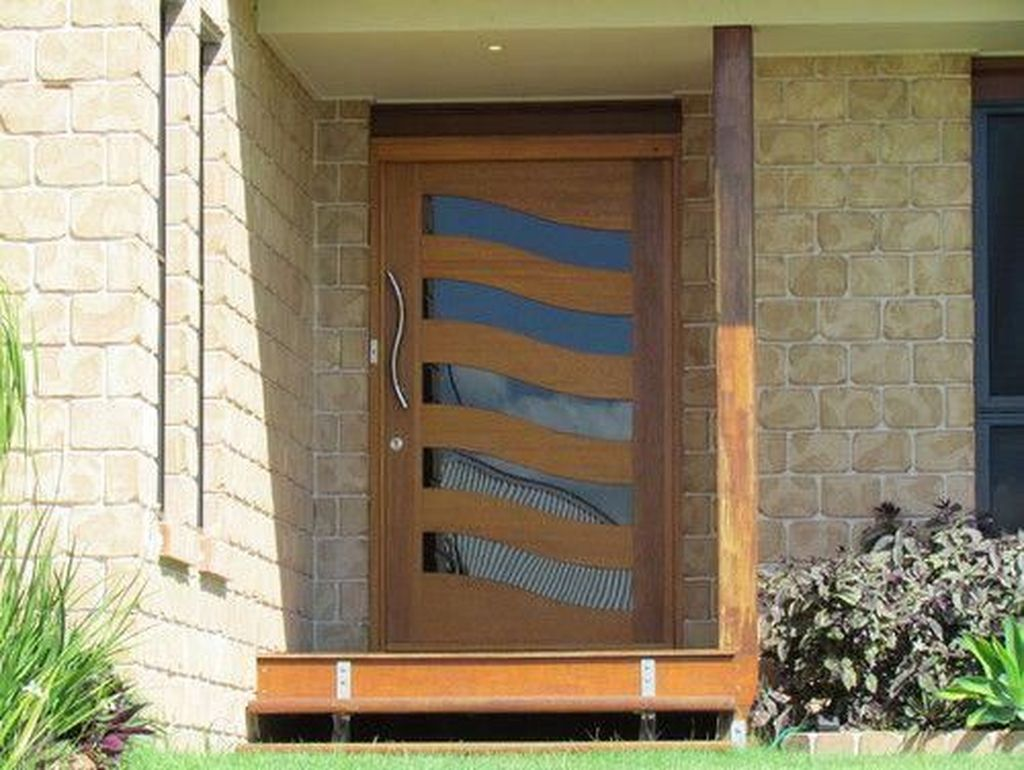 The Best Modern Front Entrance Exterior Design Ideas 29