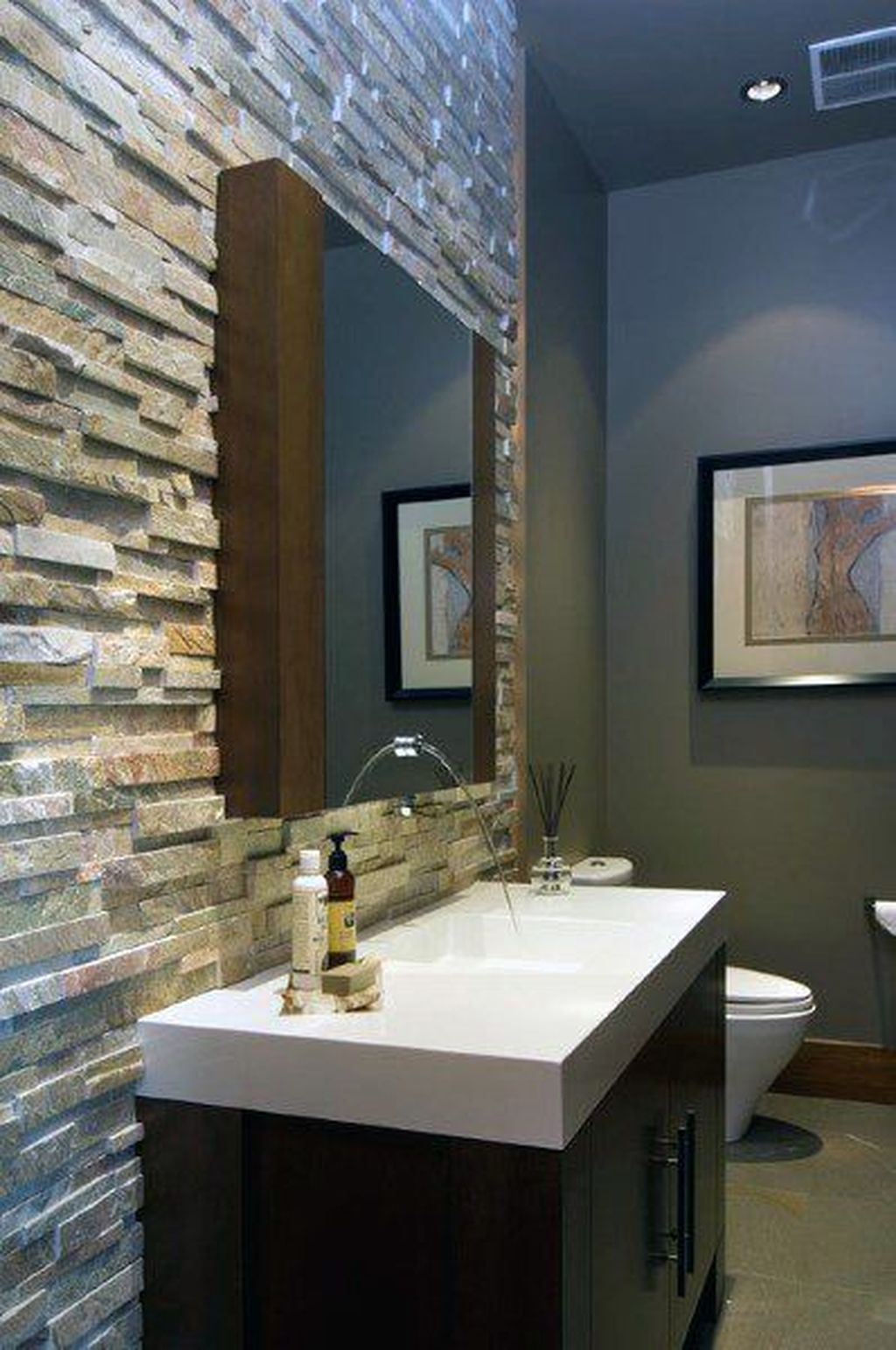 The Best Stone Tile Bathroom Ideas To Decorate Your Bathroom 35