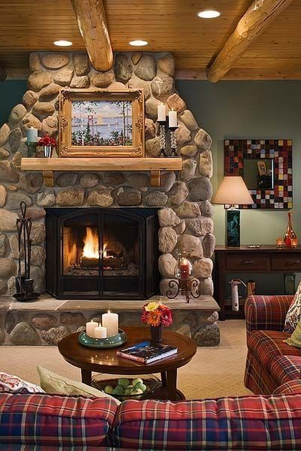 Awesome Living Room Design Ideas With Fireplace 06