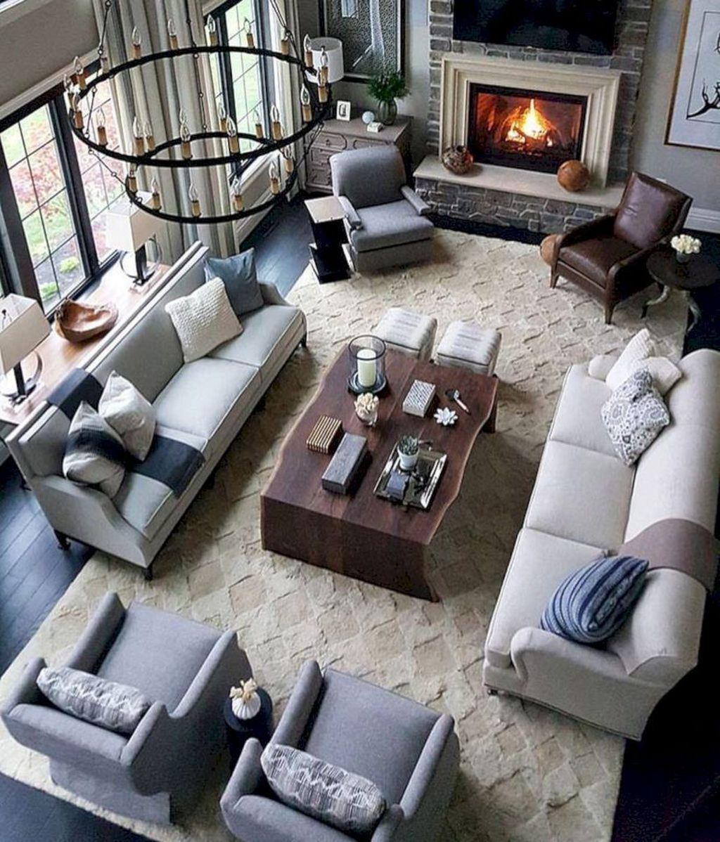 Awesome Living Room Design Ideas With Fireplace 16
