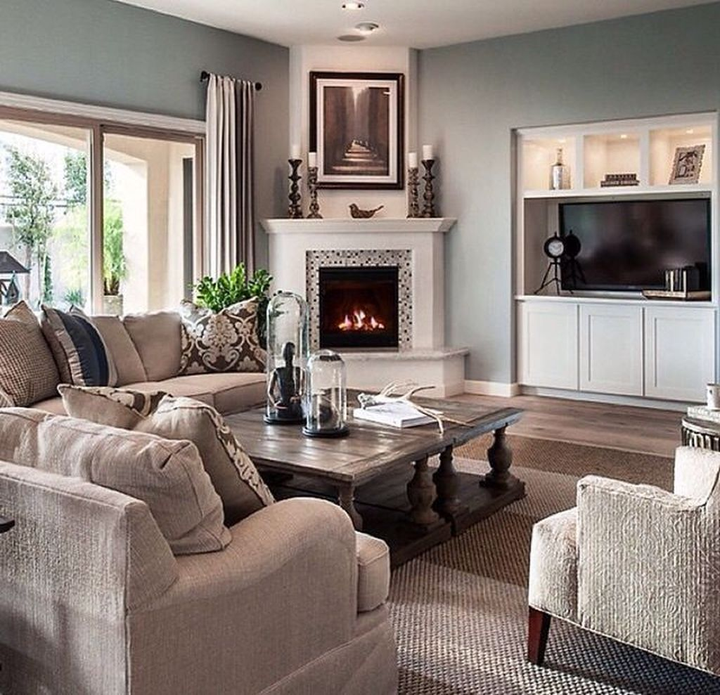 Awesome Living Room Design Ideas With Fireplace 22