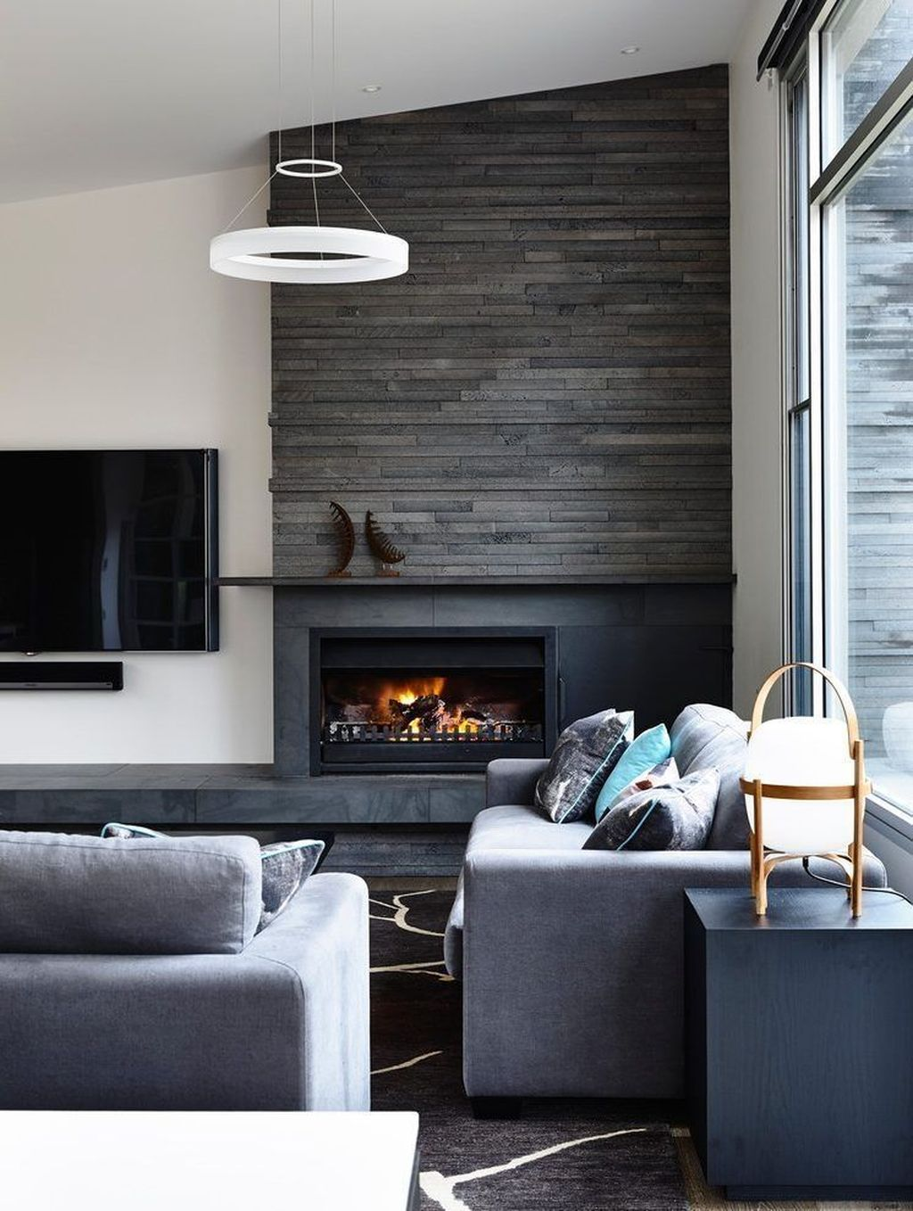 Awesome Living Room Design Ideas With Fireplace 32