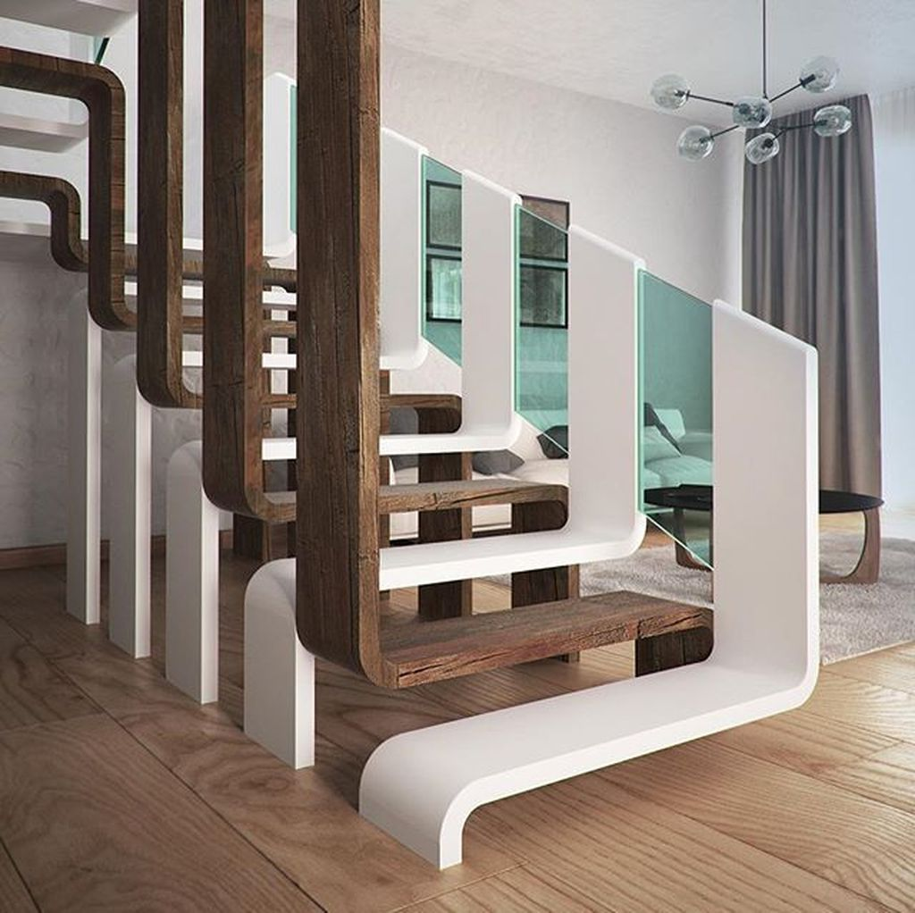 33 Beautiful Home Stairs Design Ideas With Modern Style Magzhouse