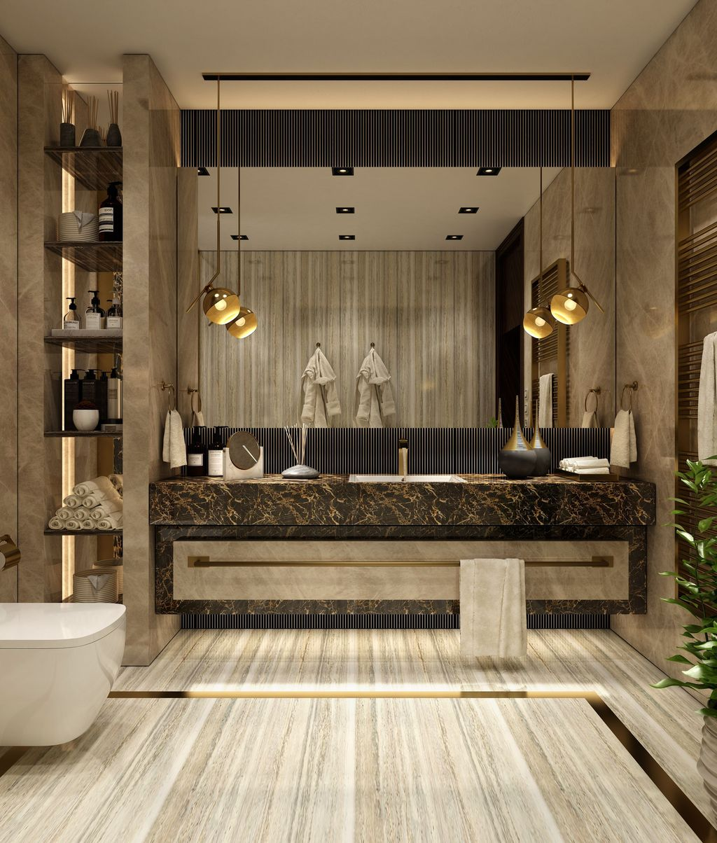 Luxury Bathroom Design And Decor Ideas 02