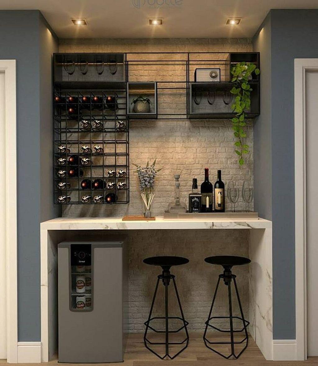 Popular Small Home Bar Design Ideas 14 1
