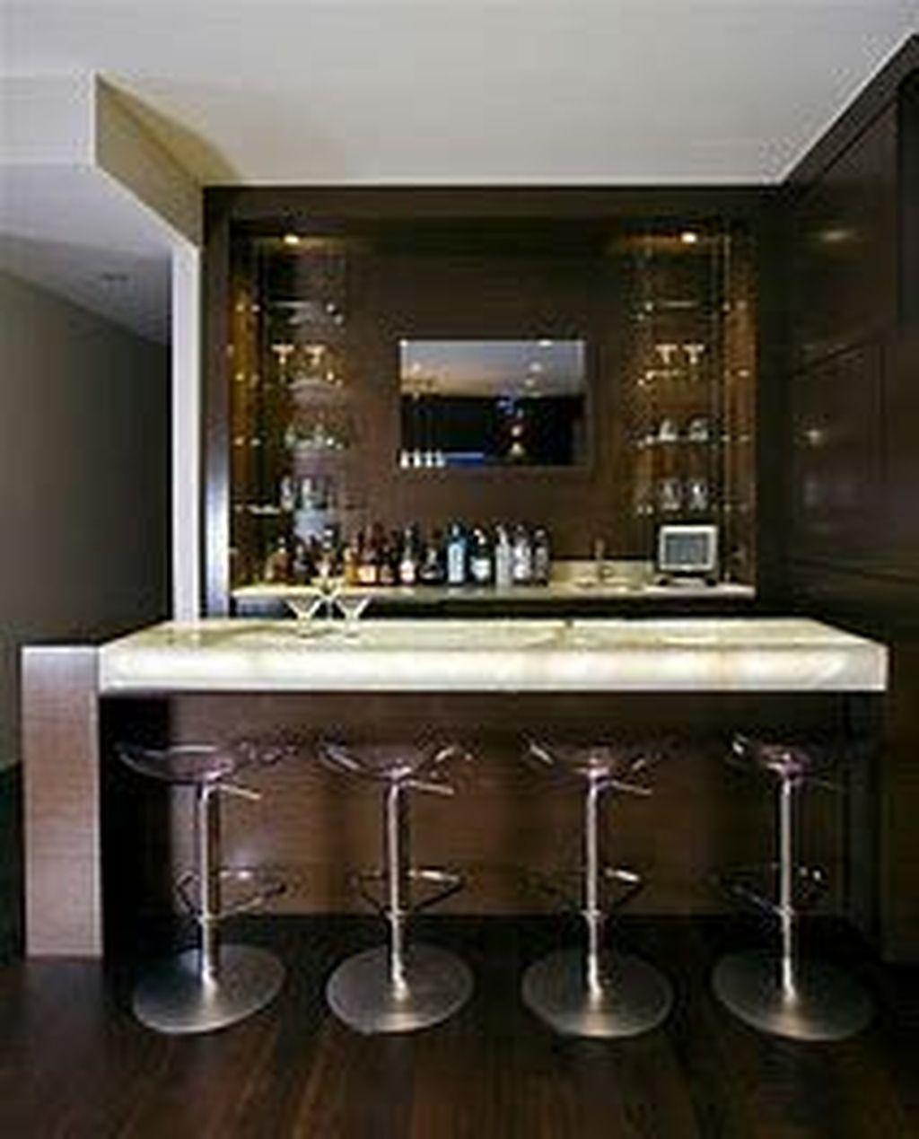 Popular Small Home Bar Design Ideas 21