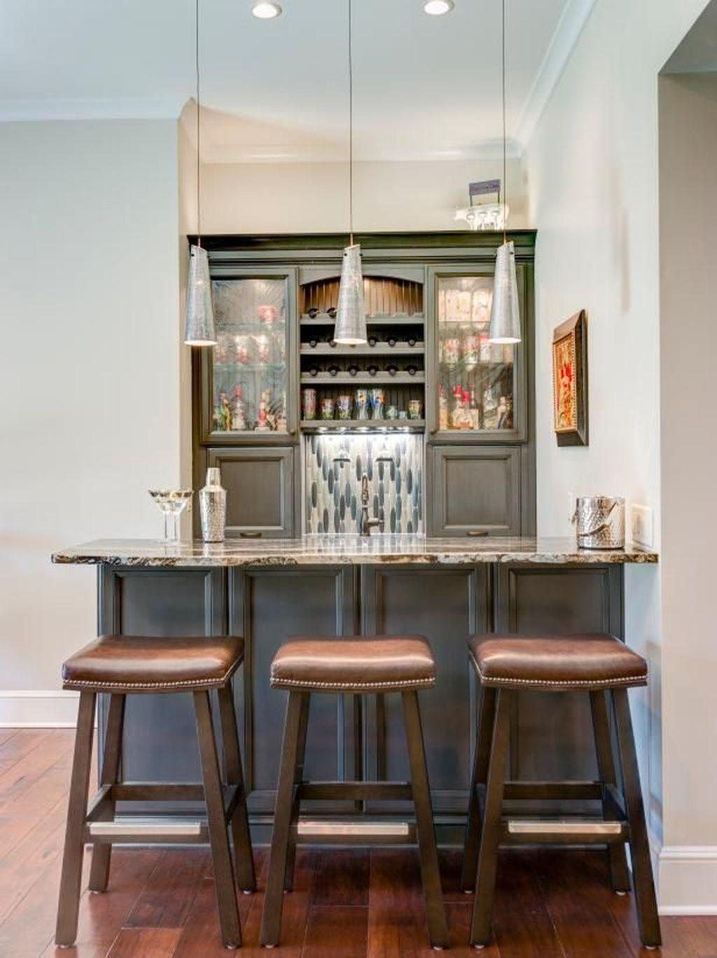 Popular Small Home Bar Design Ideas 24