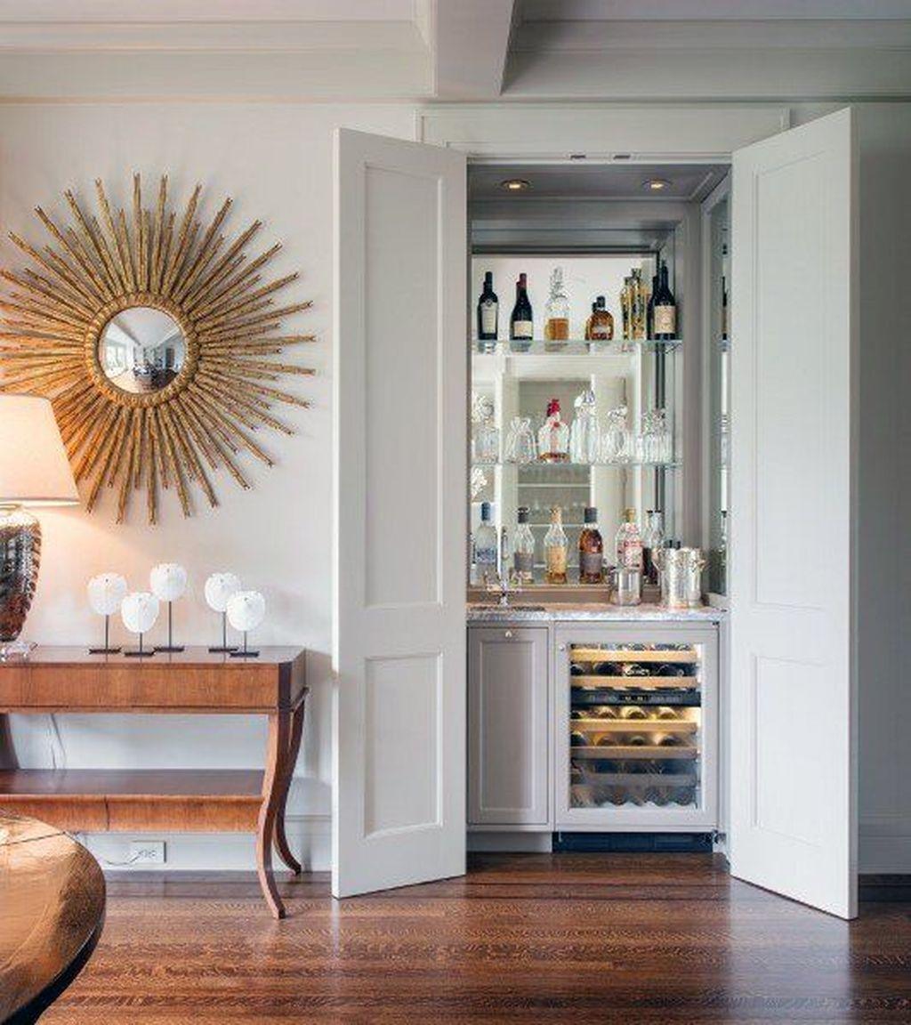 Popular Small Home Bar Design Ideas 25