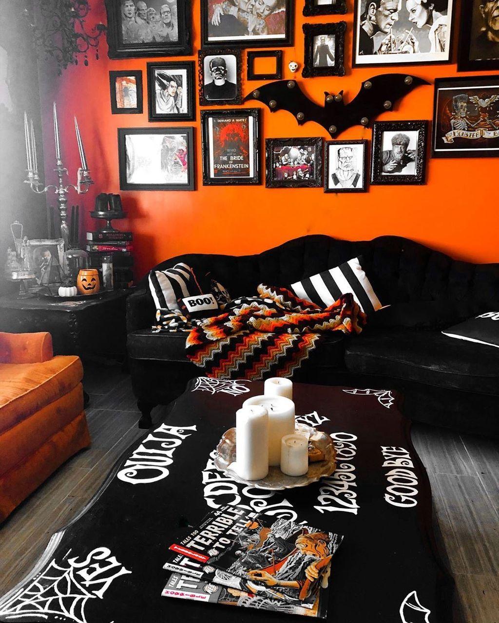 Halloween Home Design Ideas: Stunning Halloween Living Room Decor Ideas Looks Scary 10